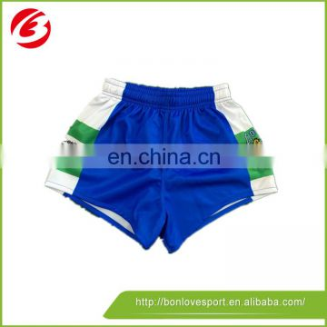 Sublimation Breathable Durable Rugby League Playing Training Shorts