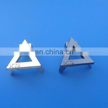 Cut Out Triangle Design Metal Bag Plate