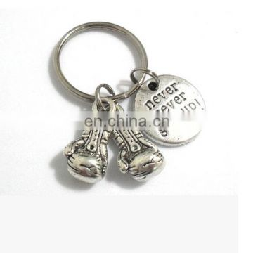 Soccer sports never give up custom key chain for promotion