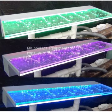 mic RGB LED light acrylic spillway water curtain pool fountain swimming fountain