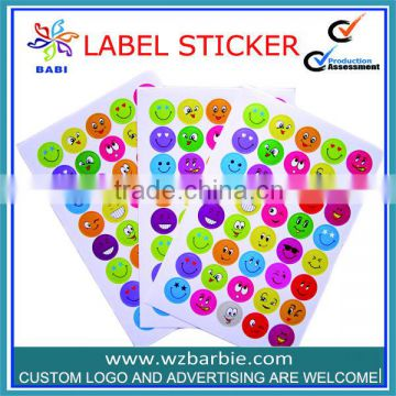 custom smile face expression paint sticker