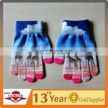Animal pattern touch gloves,wholesale alibaba