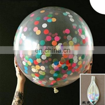 confetti balloon 36 inch round clear transparent romantic wedding decoration party confetti balloons