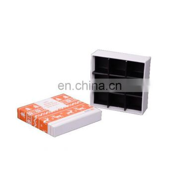 10th Anniversary Cube Shape Custom Printing Design World Wide Used Paper Inlay 9pcs Chocolate Box