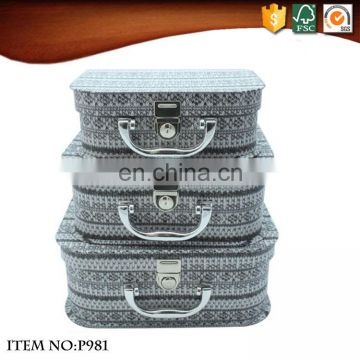 Small Fashional Imitation wool Paper Suitcase