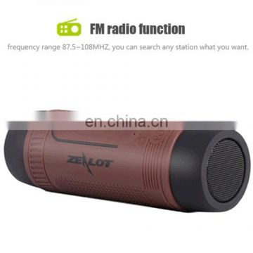 Wholesale Newest Bullet Design Bluetooth 4.0 Speaker,Subwoofer Audio Receiver with 4000mAh battery, LED light,FM radio