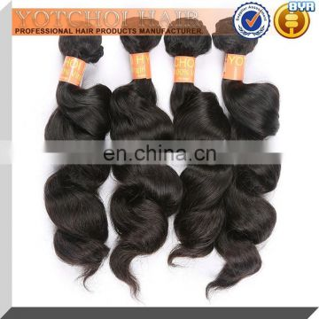 2015 Top Quality Virgin Hair Extension Remy Indian Hair Extension,Virgin Loose Wave Hair