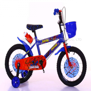 Kids Bike With Basket Steel Children Spider Man Bicycle China