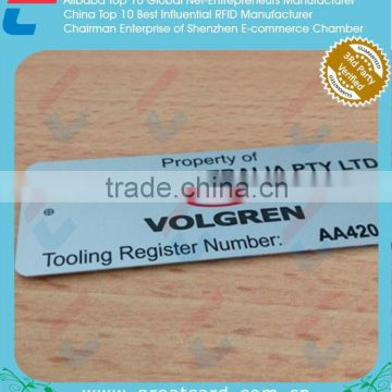 Aluminum Barcode Label With Series Number                                                                         Quality Choice