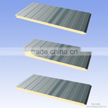 eps sandwich panel for prefab house,polyurethane sandwich panel, Heat presevation pu sandwich panel                                                                         Quality Choice