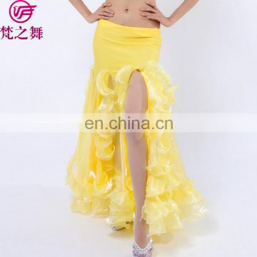 Q-6052 Professional Long beautiful arabic sexy belly dance skirt