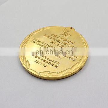 high quality custom gold plated medals for wedding