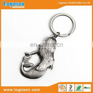 Hot selling souvenir antique brass plating custom shape keychain