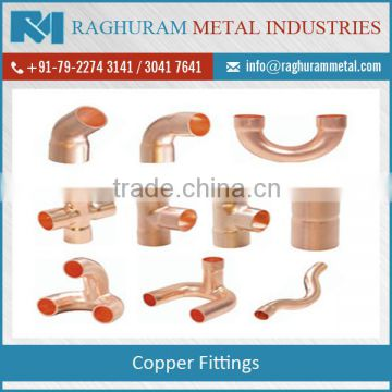 Mass Purchase of Best Quality Copper Fittings -ASTM 5375 Alloy C12200 at Noticeable Price