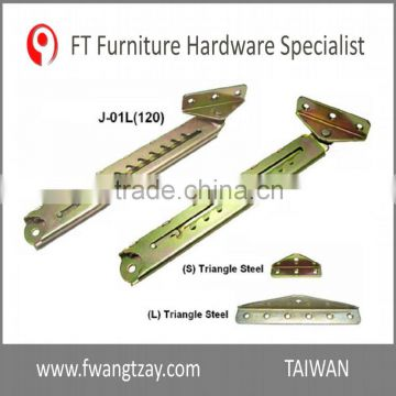 Taiwan Hardware 10 Position Industrial Furniture Adjustable Angle Extension  Door Desk Table Bed Sofa Metal Ratchet Angle Hinge