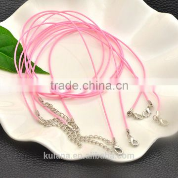Wholesale pink wax cotton cord necklace for pendant bracelet jewelry making 92302