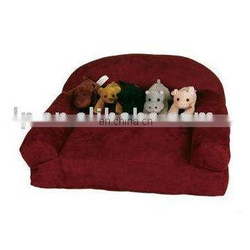 dog bed and sofa