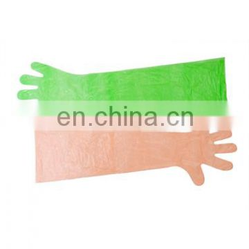 Clean PE Plastic Long Sleeve Disposable Gloves