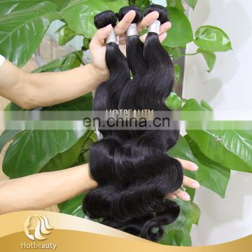 2017 cheap remy hair body wave natural black easy to care sot ends no knots