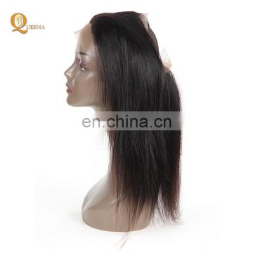 hot sale brazilian peruvian malaysian india hair 360 lace frontal closure