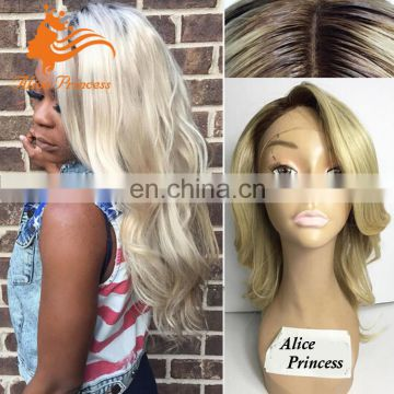 8A Grade Blonde Full Lace Braided Wig With Side Bangs Virgin Human Hair Thin Skin Top Lace Wig Mushroom Style Silk Top Lace Wig