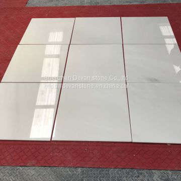 China pure white marble white jade marble slab floor tile