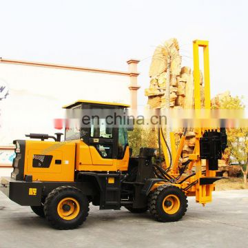 40KW loader mounted pile driver piling and drilling machine