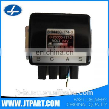 8-94450174-0 for auto 4JB1 genuine auto 12V car glow relay