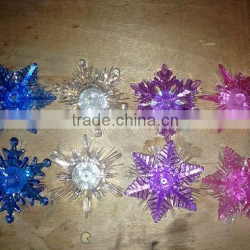 2015 newest led snowflake light fiber optic snowflake hanging chrismas decoration snowflake haing snowflake light chrismas light
