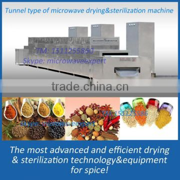 Spice microwave fumigation machine