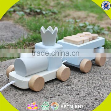 2017 wholesale wooden pull toys for toddlers funny train wooden pull toys for toddlers best pull toys for toddlers W05C075