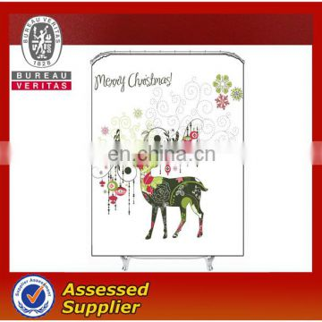 Eco-Friendly Christmas Polyester Shower Curtains
