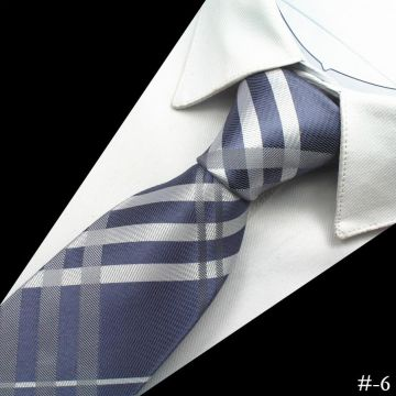 Double-brushed White Polyester Woven Necktie Satin Mens Suit Accessories