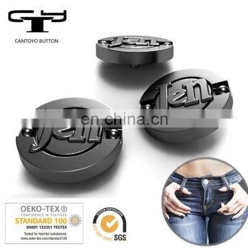 Custom Metal Button Manufacturers High-grade Shiny Plating Smooth Face jean Button