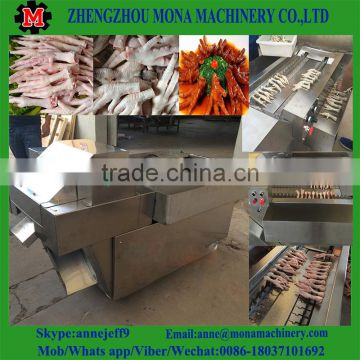 chicken feet processing plant,stainless steel automatic chicken feet cutting machine,chicken feet processing machine