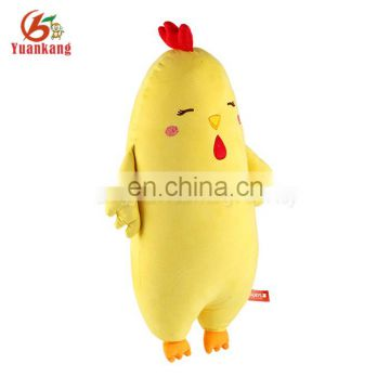 Personalized funny yellow chicken animal shaped plush body pillow