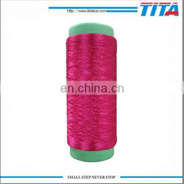 Polyester filament yarn twisted for labels and warp
