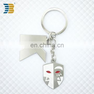 high quality custom metal keychain with letter and badge