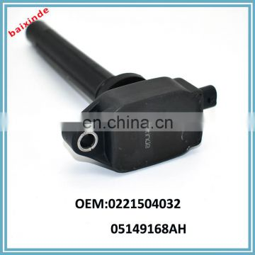 Baixinde brand High Quality BRAND Ignition coil Pack OEM 0221504032 05149168AH for JEEP VW Ignition Coil