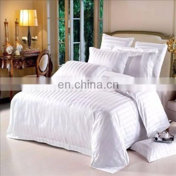 2016 best selling 3 cm stripe hotel bed set