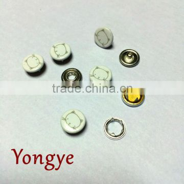 Dry-cleaning custom cat face cap prong snap button for Baby Velcro suits                                                                         Quality Choice