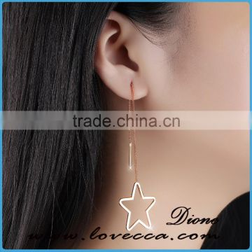 Latest earring designs Ear Line long chain line earrings Stainless steel