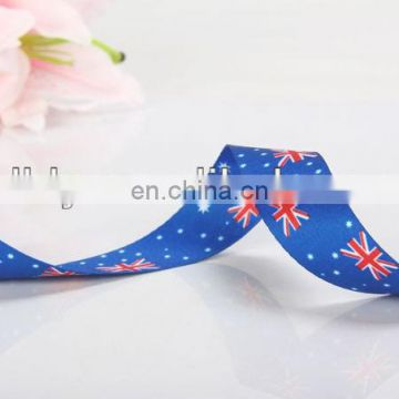hot sale Austrilia flag printed polyester ribbon