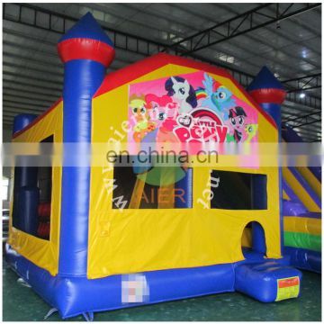 2017 Aier inflatable bouncers sport castle with basketball hoop/inflatable jumping house for sale