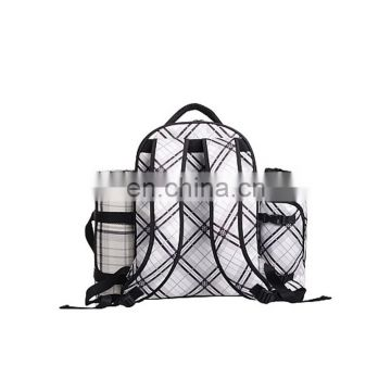 Family outdoor picnic backpack with side pockets