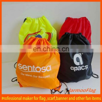 wholesale printed hemp drawstring bag