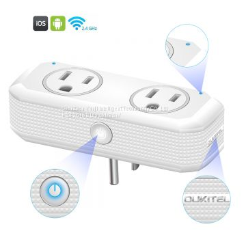 Oukitel 110V-220v smart home socket US standard Mini Design Factory Price wi-fi smart home plug, smart plug wifi