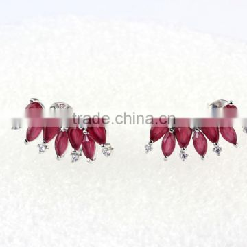 wholesale semi joias brincos brass rhodium plated zirconia cuff earrings jewelry                                                                                                         Supplier's Choice