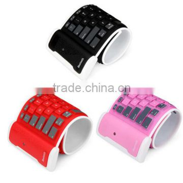 Roll Silicone Keyboard / Folding wireless keyboard / bluetooth keyboard
