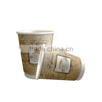 Disposable Paper Coffee Cup/Double Wall paper cup raw material/Insulated Paper Coffee Cups